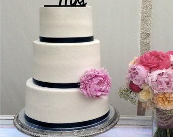 Mrs Wedding Cake Topper