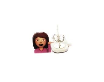 You Know That One Girl Emoji :  Stud Earrings