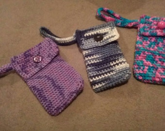 Crochet Cell Phone Wristlet