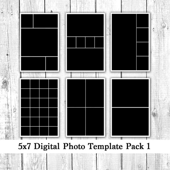 5x7 digital photo template pack collage by loveurstyledesigns. Black Bedroom Furniture Sets. Home Design Ideas
