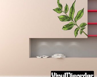 Floral Tree Branch Wall Decal - Wall Fabric - Vinyl Decal - Removable and Reusable - FloralBranchUScolor014ET