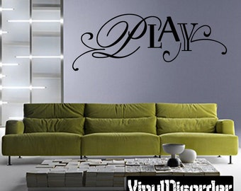 Play Wall Decal - Vinyl Decal - Wall Decal - Mv005ET