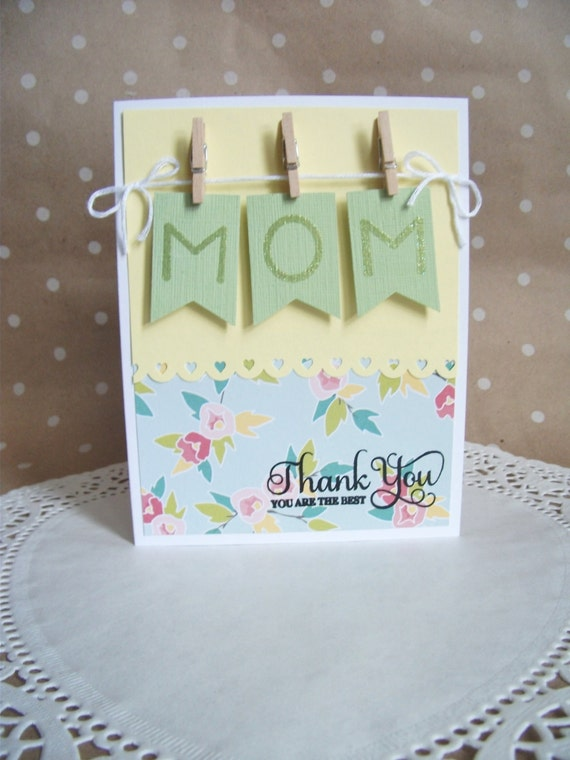 Mother 39 s day card mothers day card thank you mom card Good ideas for mothers day card