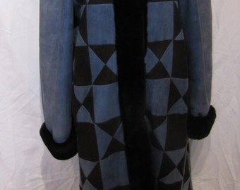 Vintage Full Length Christian Dior Shearling Sheepskin Coat Size M