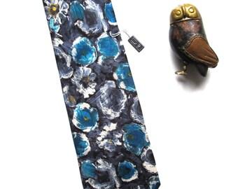 Vintage Tie, Vintage necktie, 1970's tie, necktie, anchorman tie, Blue Indigo tie . Menswear