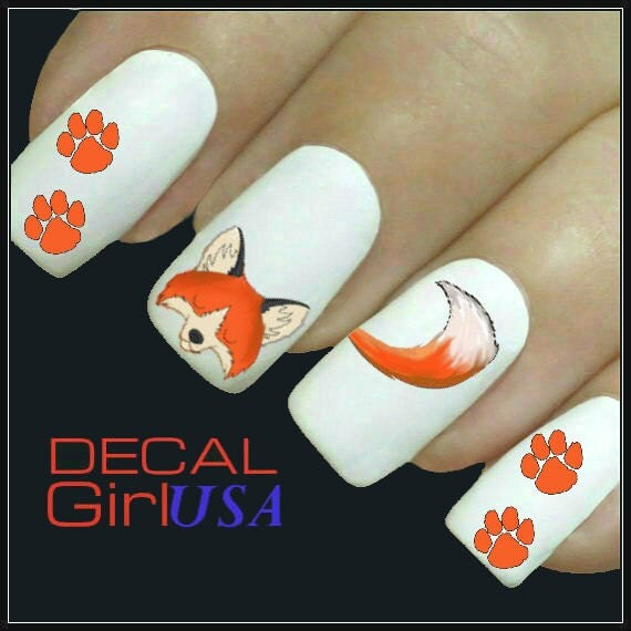 Fox Nail Designs: Fox Nail Art Decals 32 Fox Nail Decals By DecalGirlUSA On Etsy