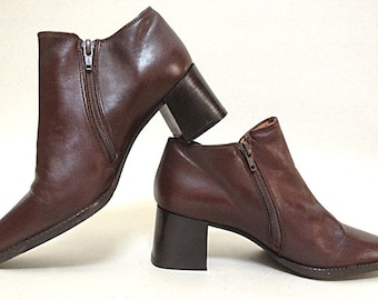 Boots in brown leather LUCIANA ROMANELLI - Size 6.5 (US)