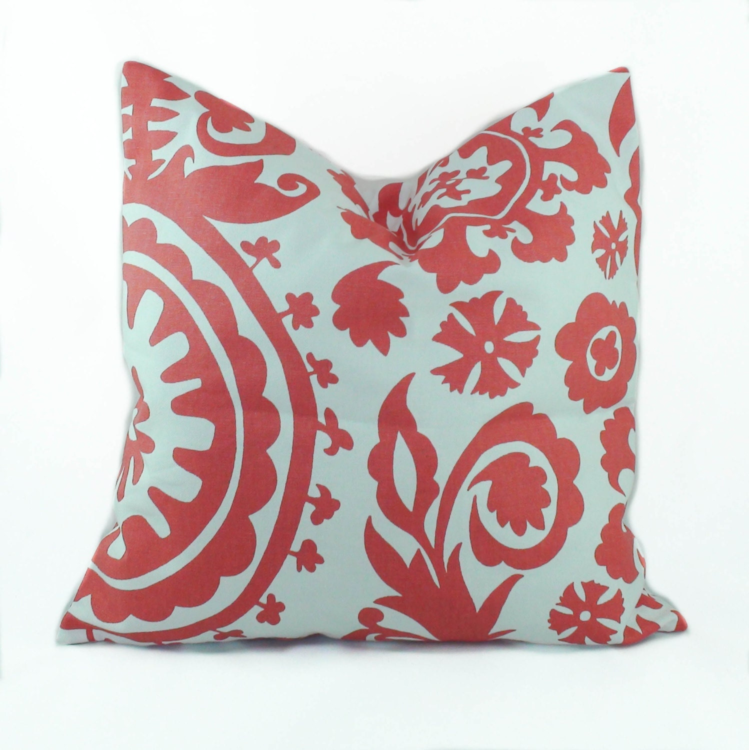 Throw Pillows With Coral : Coral pillow covers 18x18 Decorative pillows for by PillowCorner