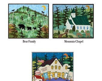 Set of Six Notecards - Mountains Collection