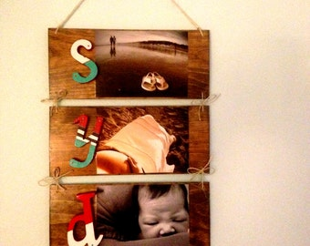 Custom Made-to-Order Wall Decor Decoupage Photo and Nameplates