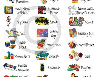 Toy Room Labels / Toy Organization / Stickers / Toy Bin Labels / Kids Room Labels / Digital Download / Instant Download