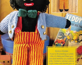 Noddy Doll Knitting Pattern : Vintage 1970s