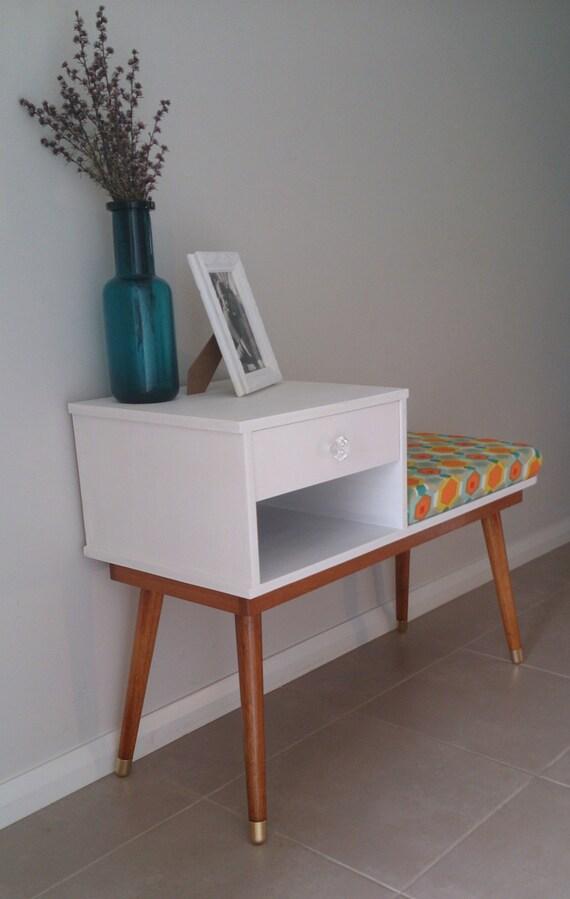 retro restored vintage mid century 1959 telephone table gossip. Black Bedroom Furniture Sets. Home Design Ideas