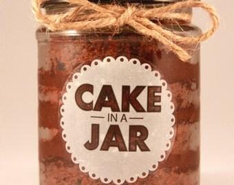 Large Chocolate Heaven Cake in a Jar
