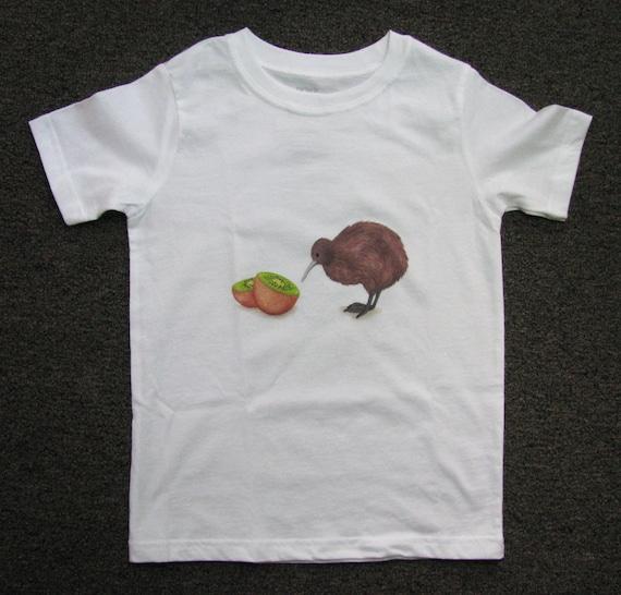 Bodysuit, Tshirt, Baby, Toddler, Kids, Fruit, Kiwi bird, Birdy, New Zealand, Animal, Funny, Cute, girl, boy, Comparable to a Onesie