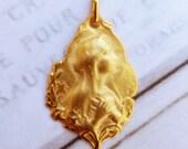 Medal - Blessed Virgin Mary 18K Gold Vermeil Medal - 18x22mm