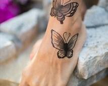 Butterflies Temporary Tattoo by Myra Oh