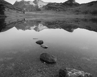 Morning reflection in Blea Tarn, Lake District