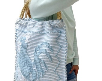 reserved //FRENCH 60's woven BEACH bag // BOHO summer bag