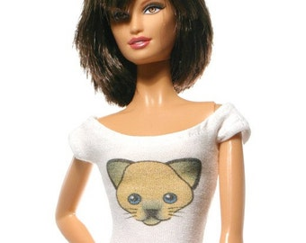 Handmade clothes for Barbie (T-shirt): Cat 01