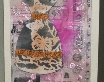 couture handmade greetings card,