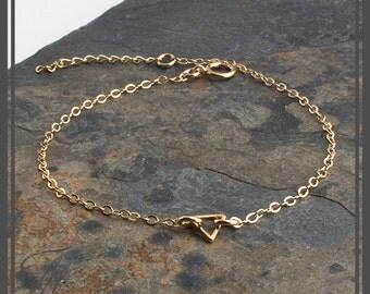 Gold Bracelet Triangle Bracelet Minimalist Jewelry Handmade Bracelet Stackable Bracelet Gold Jewelry,Gift For Her,Layer Bracelet