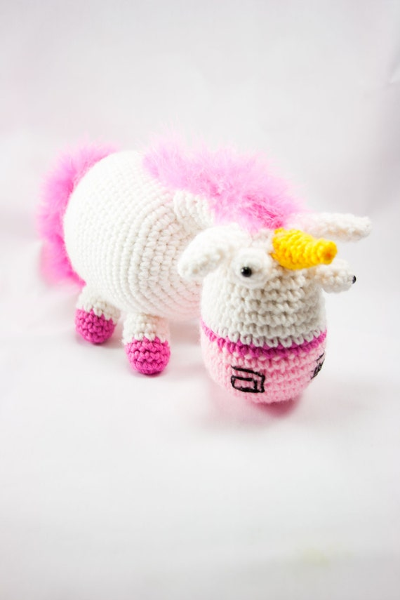Items similar to Cute & Fluffy Unicorn Amigurumi on Etsy