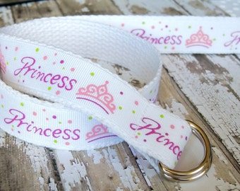 Princess Belt,Girls Belt, Baby Belt, Infant Belt, BabyGirl Belt D-ring closure, Baby Girl Clothing, Infant clothing, Infant Girl Clothing