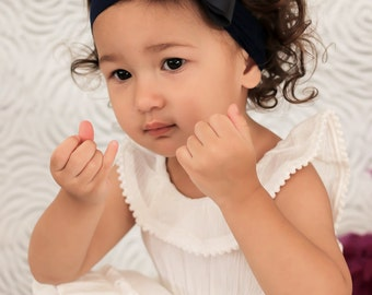 Navy Blue Big Bow Headband, Navy Blue Baby Headband, Navy Blue Baby Headband, Newborn Headband, Blue Bow Headband, Nylon Headband, 936