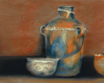 """Native American Pottery Print 9 x 12"""" Open Edition Giclee. Title: Ceramic One"""