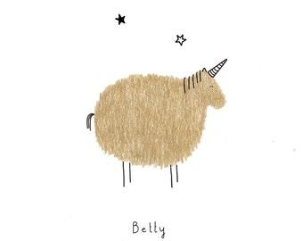 Postcard: Betty the unicorn!