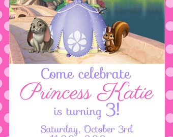 Sofia the First Invitation Kid's Birthday Party Invite Birthday Invitation