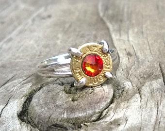 Sterling Silver Bullet Ring