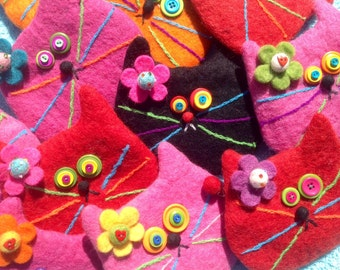 Felted Wool Cat Bags