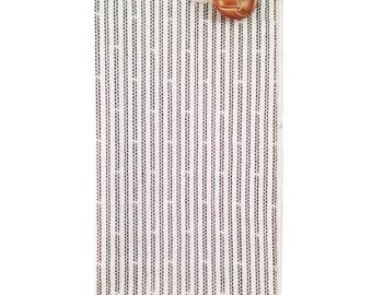 Cream and Tan Stripe Pocket Square
