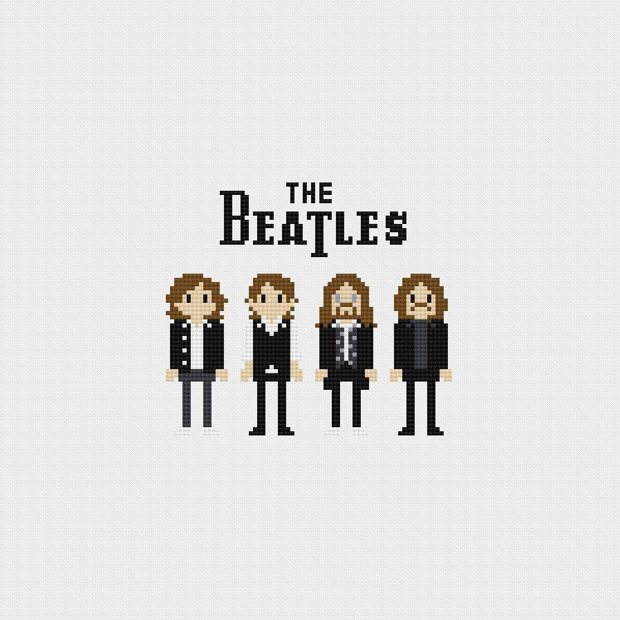 The Beatles Cross Stitch Pattern PDF Instant Download