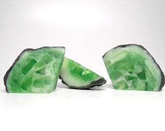 Emerald Geode Shaped Soap Set