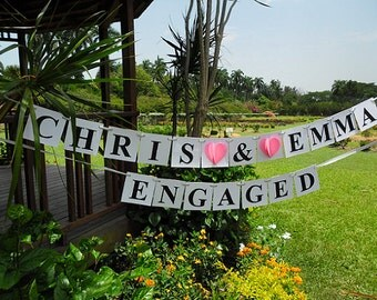 Bride and Groom Engagement Banner / Engaged Sign / Engagement Sign / Engagement Bridal Banner