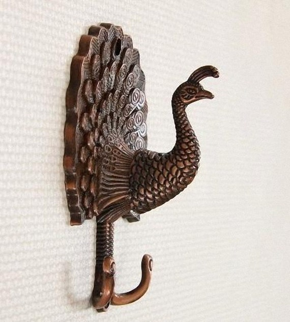 decorative wall hooks peacock decorative wall hook metal wall hooks antique brass 11366
