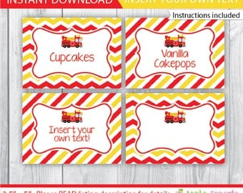 Fire Truck Food Labels / Fire Truck Table Tents / Fire Truck Party Tents / Fire Truck Printable / Fire Truck Decoration / INSTANT DOWNLOAD