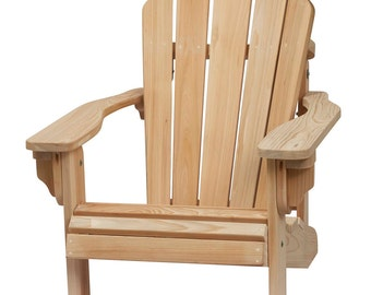Folding Cypress Adirondack Chair