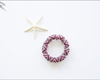Boho Chic Shades of Amethyst Zig Zag Cellini Circular Peyote Delica Miyuki Bracelet (B20)