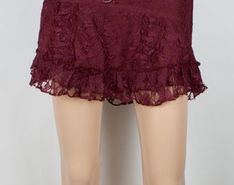 Pixie mini skirt (cotton and lace) - Dwerg (0064)
