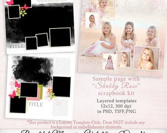 Beautiful Memories Templates Vol.30 - Digital Scrapbook Template with Photo Mask, D0031