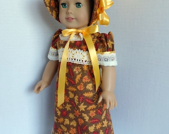 Fall Regency Gown for Most 18 Inch Dolls