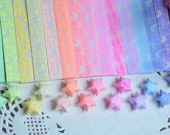 Luminous Origami Star Paper Kit I love you Lucky Wishing Star paper strips one bag 30 pcs strips14 colors can be chosen DIY Valentine gift