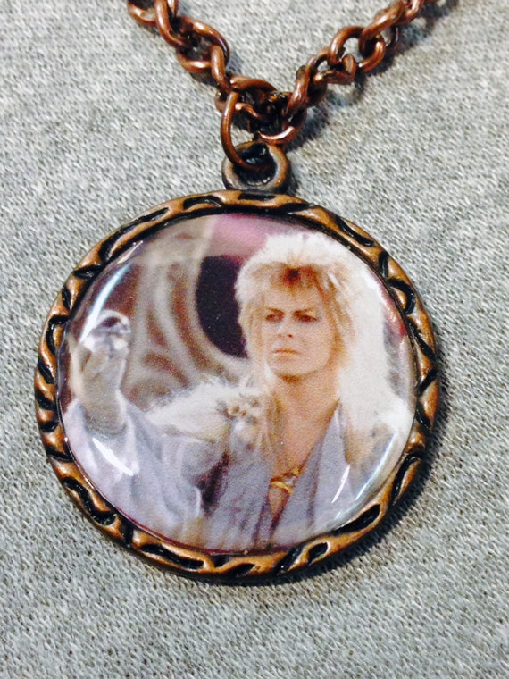 labyrinth david bowie jareth charm necklace goblin king