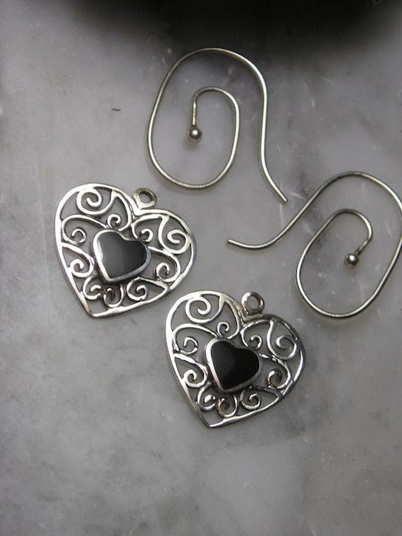 Mix & Match Earrings chain pendant Flower Heart Pearl Biwa