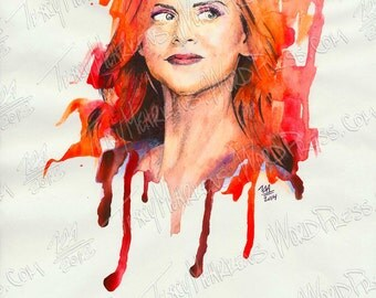 Sarah Rafferty 9x12 in. Watercolor, Ink on Paper, 2014