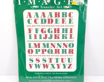 Christmas Letters Vintage 1980s Meyercord Christmas Decor Transfer Decals